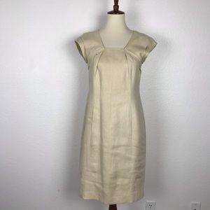 Lafayette 148 NY Linen Pockets Sheath Dress